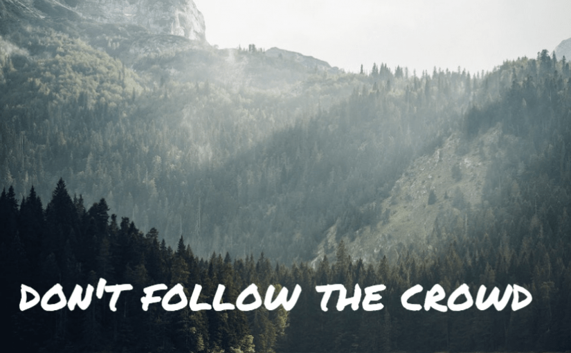 Don't follow the crowd.